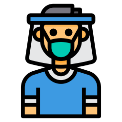 face, shield, virus, mask icon icon
