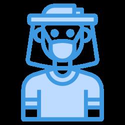face, shield, virus, mask icon icon