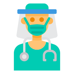 face, virus, doctor, mask, shield icon icon