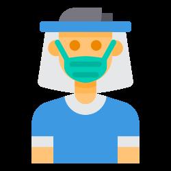 face, virus, mask, shield icon icon