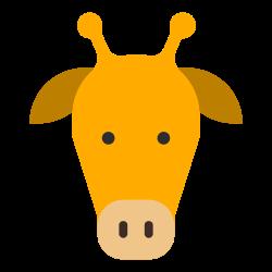 fauna, zoo, animal, cartoon, giraffe, head, herbivore icon icon