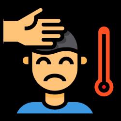 fever, cold, sick, temperature, coronavirus icon icon