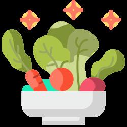 fiber, salad, fresh, vegetarian, organic, vegan, vegetable icon icon