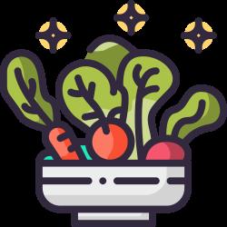 fiber, salad, vegetarian, organic, vegan, vegetable, fresh icon icon