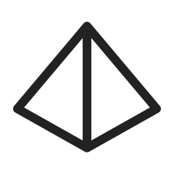 figure, shape, line, form, graphic, geometry, pyramid icon icon