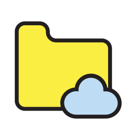 file, data, folder, archive, storage, document, cloud icon icon