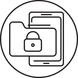 file, document, lock, smartphone, folder icon icon
