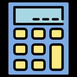 finance, application, mobile, smartphone, ui, user interface, calculator icon icon