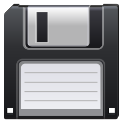 floppy, save, disk, guardar icon icon