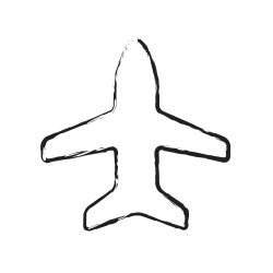 fly, air plane, flight, travel, transportation, vacation, airplane icon icon