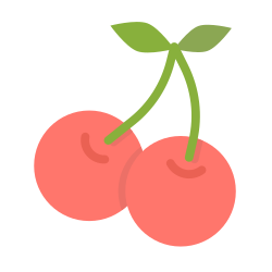 food, cherry, cherries, fruit, berry, spring, berries icon icon