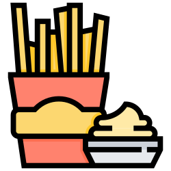 food, fries, fast, french, snacks icon icon