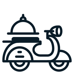 food, scooter, motorcycle, delivery, transportation0 icon icon