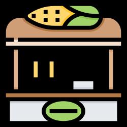 food, shop, corn, street, vegetable icon icon