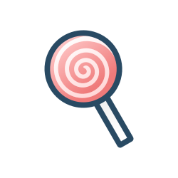 food, sweet, candy, lollipop icon icon