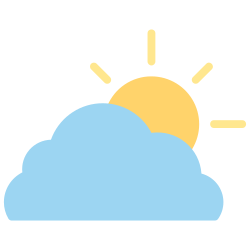 forecast, cloudy, weather, element, sunny, climate, cloud icon icon