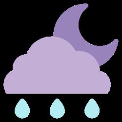 forecast, rainy, weather, element, night, climate, cloud icon icon
