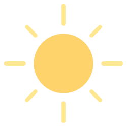 forecast, sun, element, weather, sunny, summer, climate icon icon