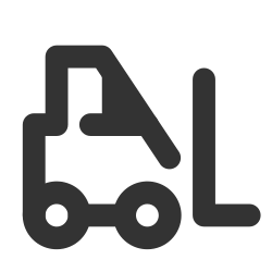 forklift, warehouse, industrial icon icon