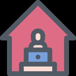 freelance, work, home, job icon icon