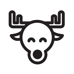 funny, magic, deer, holiday, xmas, happy icon icon