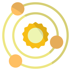 galaxy, space, science, astronomy, planet, universe icon icon