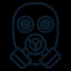 gas, respirator0, toxic, mask, face icon icon
