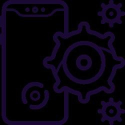 gear, ios11, mobile, sercive, iphone, clean, phone icon icon