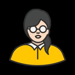 geek, girl, woman, nerd icon icon