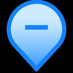 geolocation, hide, pin, mark, tag, minus, delete icon icon