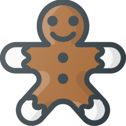gingerbread, cookie, christmas, sweet icon icon