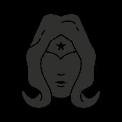 girl something, justice league, female superhero, wonder woman icon icon