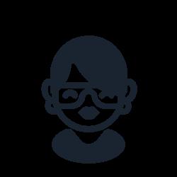 glasses, people, student, female, nerd, gerk icon icon