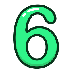 green, number, study, six, numbers icon icon