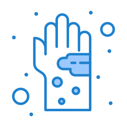 hand, dirty, germ, virus, hygiene, bacterial icon icon