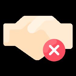 handshake, coronavirus, virus, prohibited icon icon