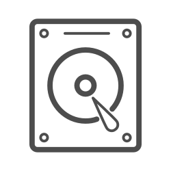 hard disk line icon, hard disk, hard disk icon, hdd, hdd icon icon icon