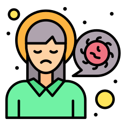 headache, head, pain, infection, sick, virus icon icon