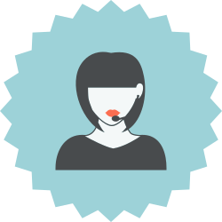 headset, woman, consultant, support, customer support, female, girl icon icon