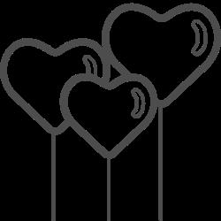 heart, balloons, valenticons, love, valentine, valentines, romantic icon icon