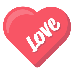 heart, layer, love, photo, sticker, word icon icon