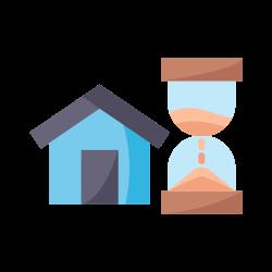 home, quarantine, sand watch, coronavirus, covid icon icon