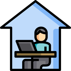home, work, quarantine, lineal, color, covid, office icon icon