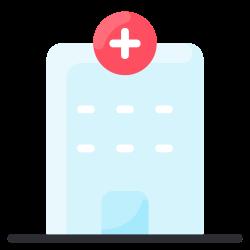 hospital, clinic, medical, emergency, building icon icon