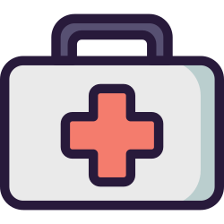 hospital, healthcare, emergency, medical, kit, health, medicine icon icon