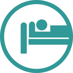 hospital, patient, bed icon icon