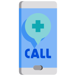 hotline, emergency, contact, call, support, smartphone, covid icon icon