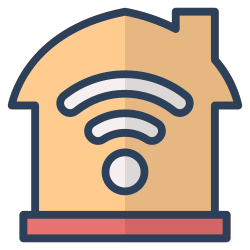 house, wifi, online, internet, invesment, real estate, property icon icon