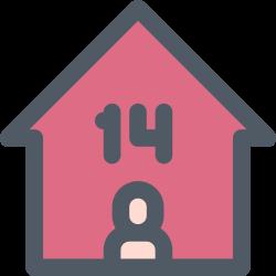 isolation, quarantine, day, home, fourteen icon icon