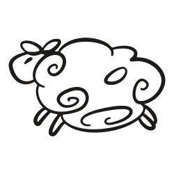 lamb, sheep, wide, gooey, animal, easter, tart icon icon